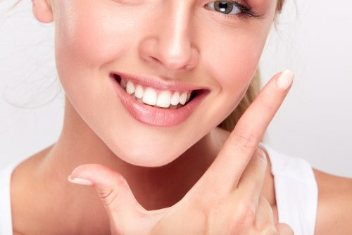 Femme souriante